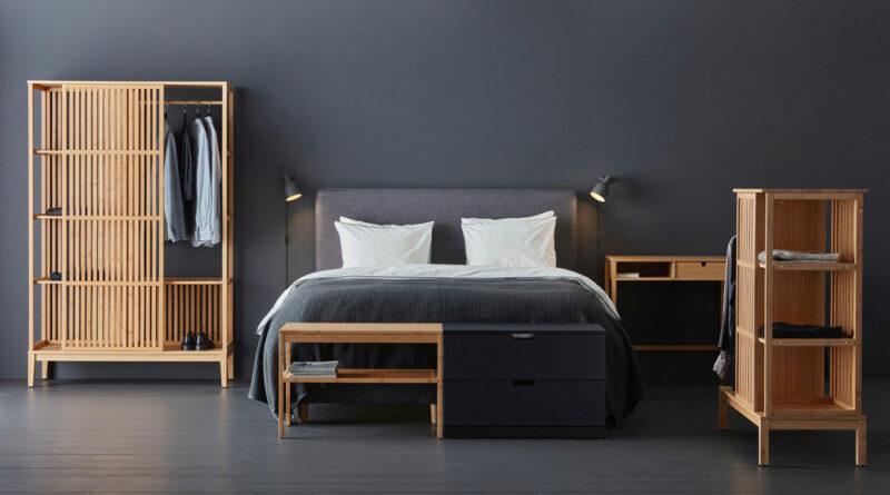 Организуйте свою спальню с помощью нового бамбукового гардероба ИКЕА НОРДКИЗА