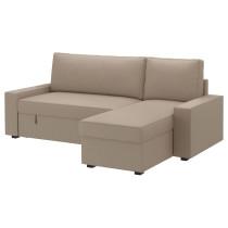 Чехол на диван-кровать с козеткой ВИЛАСУНД бежевый артикуль № 502.430.77 в наличии. Онлайн сайт ИКЕА РБ. Недорогая доставка и монтаж.