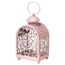 Фонарь для свечи в металической подставка ГОТТГЁРА светло-розовый артикуль № 602.361.56 в наличии. Онлайн сайт IKEA Беларусь. Быстрая доставка и монтаж.