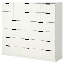 Комод с 16 ящиками НОРДЛИ белый артикуль № 290.213.42 в наличии. Online магазин IKEA Беларусь. Недорогая доставка и установка.