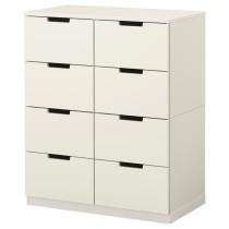 Комод с 8 ящиками НОРДЛИ белый артикуль № 190.212.67 в наличии. Интернет сайт IKEA Минск. Быстрая доставка и соборка.