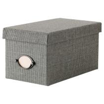 Коробка с крышкой КВАРНВИК серый артикуль № 102.566.65 в наличии. Онлайн сайт IKEA Республика Беларусь. Быстрая доставка и монтаж.