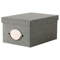 Коробка с крышкой КВАРНВИК серый артикуль № 702.566.67 в наличии. Online магазин IKEA Минск. Быстрая доставка и монтаж.