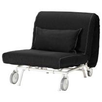 Кресло-кровать ИКЕА/ПС ЛЁВОС черный артикуль № 498.743.83 в наличии. Online сайт IKEA РБ. Быстрая доставка и установка.