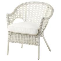 Кресло с подушкой-сиденьем ФИННТОРП / ЮПВИК белый артикуль № 898.977.78 в наличии. Online сайт ИКЕА РБ. Недорогая доставка и соборка.