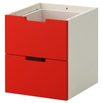 Модульный комод с 2 ящиками НОРДЛИ красный артикуль № 902.886.86 в наличии. Онлайн магазин IKEA РБ. Недорогая доставка и соборка.
