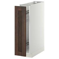 Наполный шкаф/выдвижной внутри элем МЕТОД коричневый артикуль № 091.200.36 в наличии. Интернет сайт IKEA Минск. Быстрая доставка и монтаж.