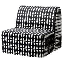 Кресло-кровать ЛИКСЕЛЕ ЛЁВОС черный/белый артикуль № 991.341.52 в наличии. Интернет сайт ИКЕА Беларусь. Недорогая доставка и установка.