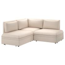 3-местный угловой диван-кровать ВАЛЛЕНТУНА бежевый артикуль № 091.494.88 в наличии. Online сайт IKEA Беларусь. Недорогая доставка и установка.