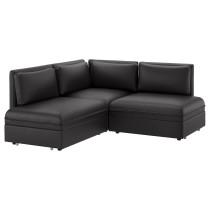 3-местный угловой диван-кровать ВАЛЛЕНТУНА черный артикуль № 791.494.18 в наличии. Онлайн магазин IKEA Минск. Недорогая доставка и соборка.