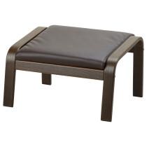 Табурет для ног ПОЭНГ темно-коричневый артикуль № 092.038.09 в наличии. Онлайн каталог IKEA Минск. Быстрая доставка и установка.