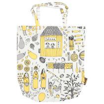 Сумка ТРЕБЛАД белый/желтый артикуль № 603.280.09 в наличии. Интернет сайт IKEA Республика Беларусь. Недорогая доставка и соборка.