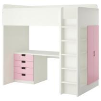 Кровать-чердак, 4 ящика, 2 дверцы СТУВА белый артикуль № 992.271.94 в наличии. Online магазин IKEA РБ. Недорогая доставка и соборка.