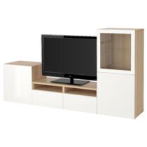 Шкаф для ТВ, комбинированный, стекляные дверцы БЕСТО артикуль № 091.902.94 в наличии. Онлайн сайт IKEA Беларусь. Быстрая доставка и установка.