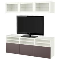 Шкаф для ТВ, комбинированный, стекляные дверцы БЕСТО белый артикуль № 291.965.20 в наличии. Online магазин ИКЕА РБ. Недорогая доставка и установка.