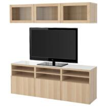 Шкаф для ТВ, комбинированный, стекляные дверцы БЕСТО артикуль № 591.965.09 в наличии. Online каталог IKEA РБ. Недорогая доставка и монтаж.