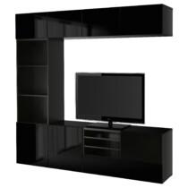 Шкаф для ТВ, комбинированный, стекляные дверцы БЕСТО артикуль № 891.967.20 в наличии. Онлайн сайт ИКЕА Минск. Недорогая доставка и монтаж.