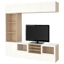 Шкаф для ТВ, комбинированный, стекляные дверцы БЕСТО артикуль № 991.967.10 в наличии. Онлайн сайт IKEA Республика Беларусь. Недорогая доставка и монтаж.