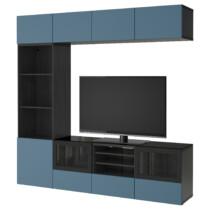 Шкаф для ТВ, комбинированный, стекляные дверцы БЕСТО артикуль № 992.086.66 в наличии. Online каталог IKEA РБ. Быстрая доставка и монтаж.