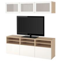Шкаф для ТВ, комбинированный, стекляные дверцы БЕСТО артикуль № 391.946.10 в наличии. Интернет каталог IKEA Беларусь. Быстрая доставка и установка.