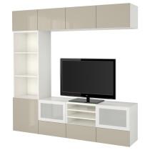 Шкаф для ТВ, комбинированный, стекляные дверцы БЕСТО белый артикуль № 791.949.86 в наличии. Онлайн сайт IKEA Беларусь. Недорогая доставка и соборка.