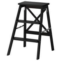 Стремянка, 3 ступеньки БЕКВЭМ черный артикуль № 303.677.09 в наличии. Интернет сайт IKEA РБ. Недорогая доставка и монтаж.