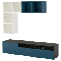 Комбинация для ТВ БЕСТО / ЭКЕТ темно-синий артикуль № 792.044.19 в наличии. Онлайн сайт IKEA Беларусь. Недорогая доставка и монтаж.