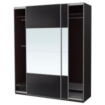 Гардероб ПАКС черно-коричневый артикуль № 792.221.64 в наличии. Online магазин IKEA Республика Беларусь. Быстрая доставка и установка.