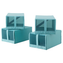 Коробка для обуви СКУББ голубой артикуль № 203.750.88 в наличии. Online магазин IKEA Республика Беларусь. Быстрая доставка и монтаж.
