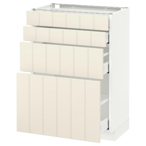 Напольный шкаф 4 фронтальных панели, 4 ящика МЕТОД / МАКСИМЕРА белый артикуль № 392.307.31 в наличии. Online каталог IKEA РБ. Недорогая доставка и установка.
