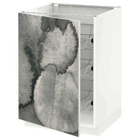 Напольный шкаф с проволочными ящиками МЕТОД белый артикуль № 892.319.45 в наличии. Онлайн сайт IKEA РБ. Быстрая доставка и монтаж.