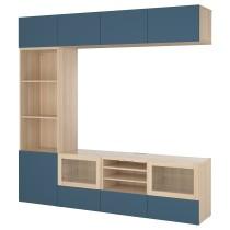Шкаф для ТВ, комбинированный, стекляные дверцы БЕСТО темно-синий артикуль № 392.522.28 в наличии. Онлайн сайт IKEA Беларусь. Быстрая доставка и соборка.