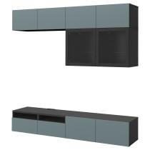 Шкаф для ТВ, комбинированный, стекляные дверцы БЕСТО артикуль № 692.523.35 в наличии. Онлайн сайт IKEA РБ. Недорогая доставка и установка.