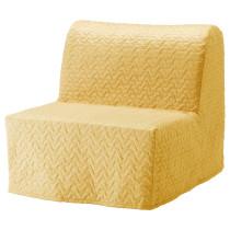 Кресло-кровать ЛИКСЕЛЕ ХОВЕТ желтый артикуль № 692.407.38 в наличии. Онлайн сайт ИКЕА Минск. Недорогая доставка и установка.