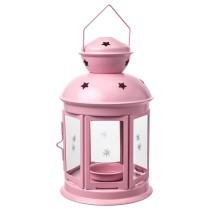 Фонарь для греющей свечи РОТЕРА светло-розовый артикуль № 704.224.31 в наличии. Онлайн сайт IKEA РБ. Быстрая доставка и соборка.